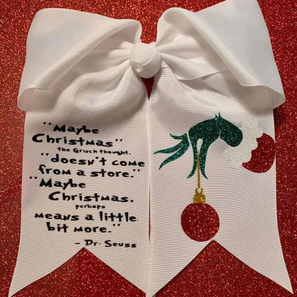 Grinch Cheer Bow