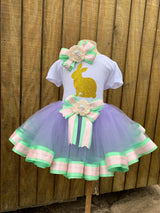 Easter Ribbon Trim Tutu Outfit
