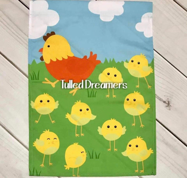 Chicken and Chick Garden Flag