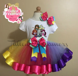 Monster HIgh Ribbon Trim Tutu Outfit