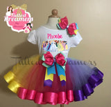 Princess Ribbon Trim Tutu Outfit