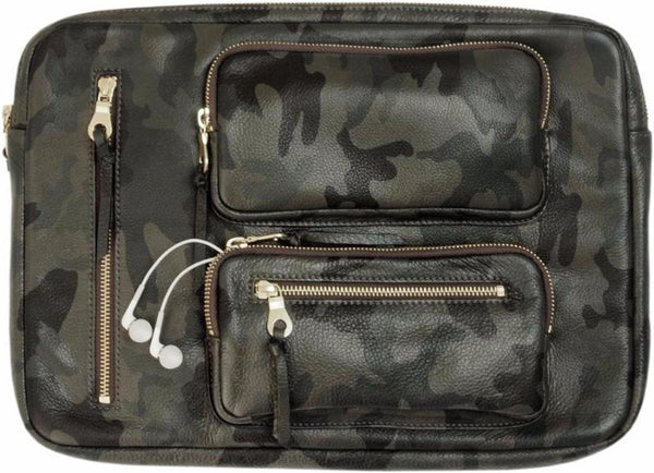 Cache Portfolio Green Camo Leather