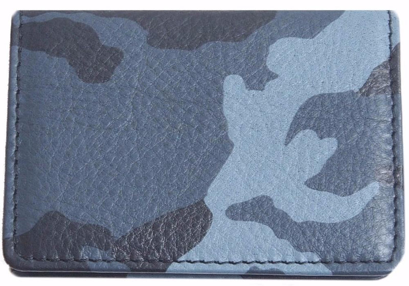 Origami Wallet in Blue Camo Leather