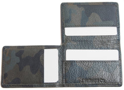 Origami Wallet in Green Camo Leather