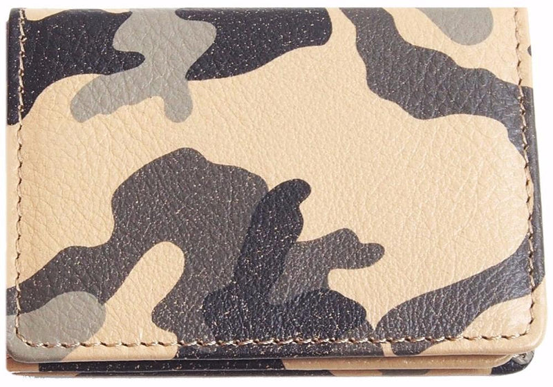 Origami Wallet in Tan Camo Leather