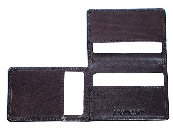 Origami Wallet in Brown Saddle Leather