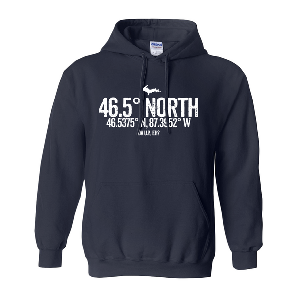 46.5 Degree North Unisex Hoodies (No-Zip/Pullover)