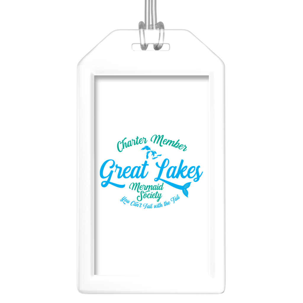 Fun Luggage Tags for Friends - Great Lakes Mermaid Luggage Tags - Great Lakes Luggage Tags - Charter Member Great Lakes Mermaid Society