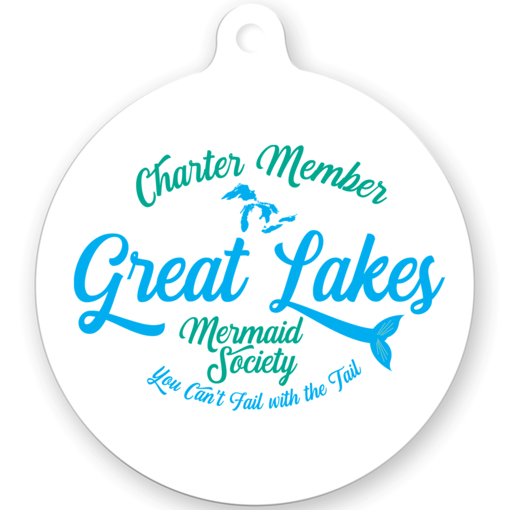 Great Lakes Mermaid Christmas Ornament -- Great Lake Christmas Ornament - Charter Member of the Great Lakes Mermaid Society