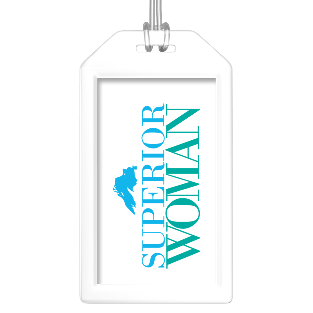 Fun Luggage Tags for Friends - Superior Woman Luggage Tags - Great Lakes Luggage Tags - Superior Woman