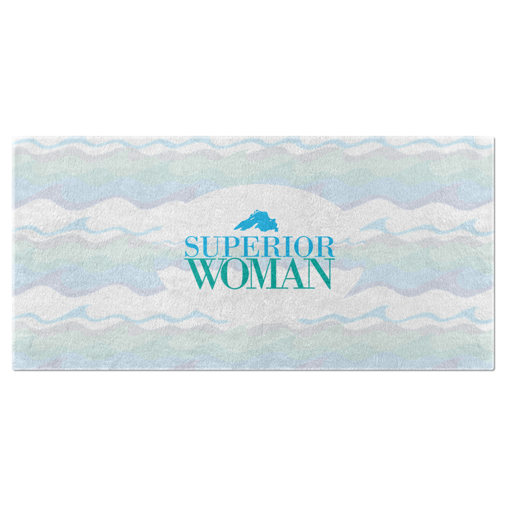 Great Lakes Beach Towels - Lake Superior Beach Towel - Superior Woman Beach Towel