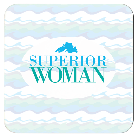 Superior Woman Coasters -- Lake Superior Coasters -- Great Lakes Coasters