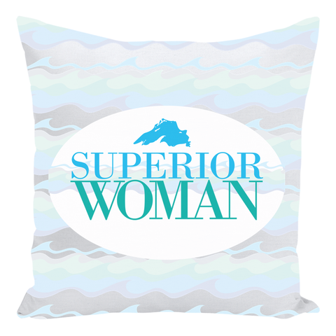 Great Lakes Throw Pillows -- Superior Woman Throw Pillows -- Lake Superior Throw Pillows