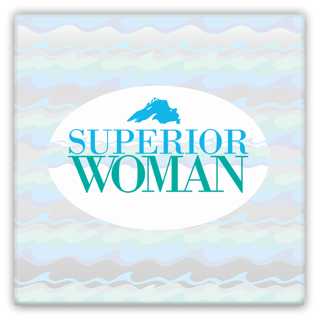 Lake Superior Magnet -- Great Lakes Magnet - Superior Woman Magnet