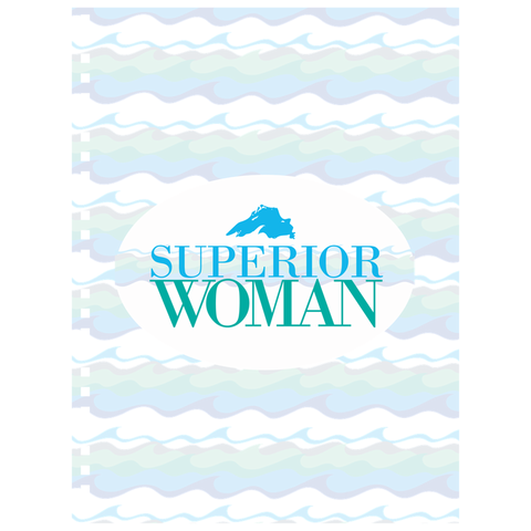 Lake Superior Notebook - Superior Woman Notebook - Yooper Notebook - Upper Peninsula Notebook