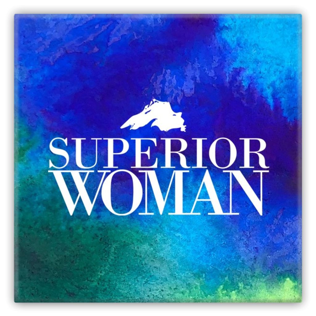 Superior Woman Metal Magnet - Lake Superior Magnet -- Great Lakes Magnet - Superior Woman Magnet