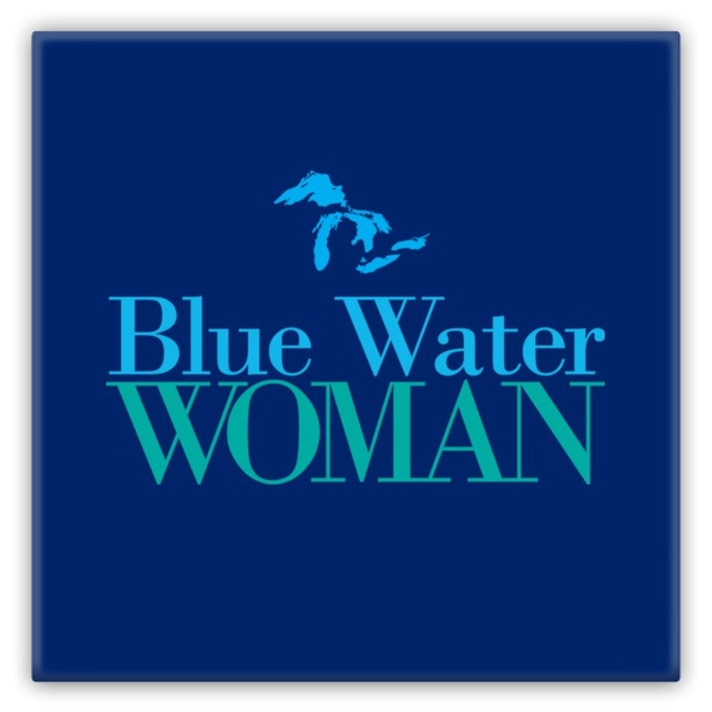 Blue Water Woman Navy Metal Magnet