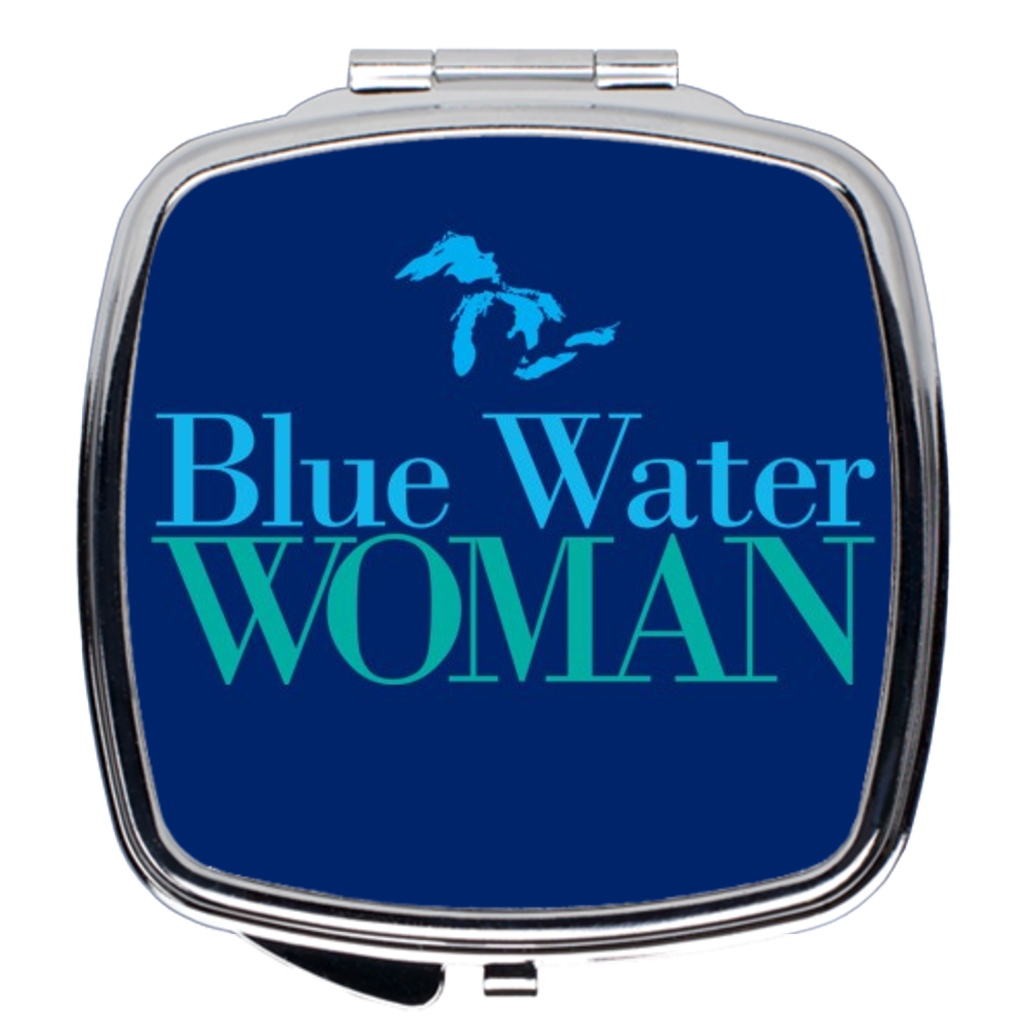 Blue Water Woman Navy Compact Mirror