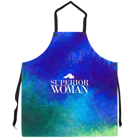 Lake Superior Apron - Superior Woman Apron -- Watercolor