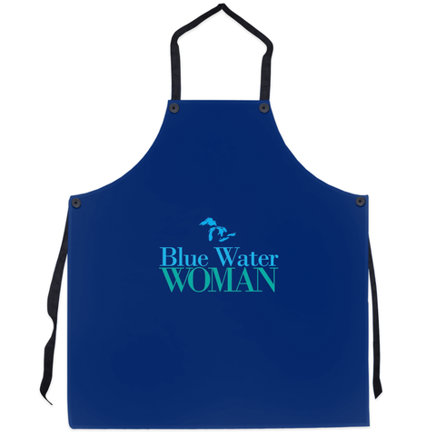 Blue Water Woman Apron -- Navy