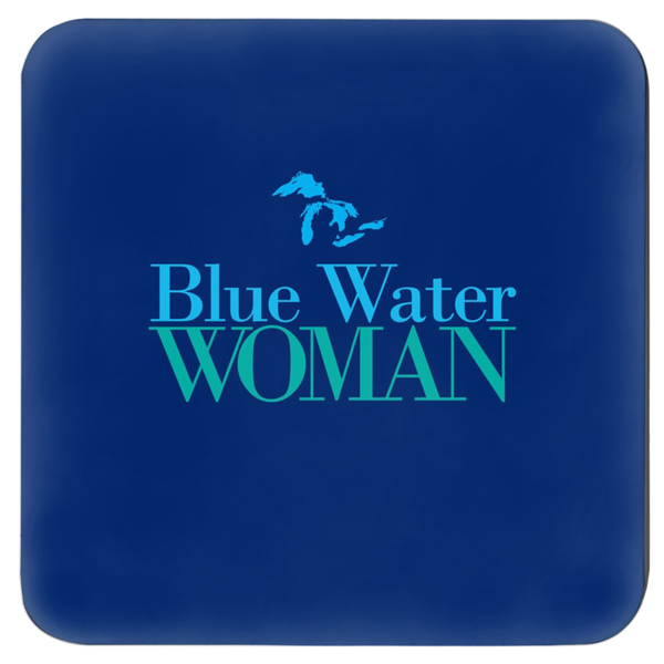 Blue Water Woman Coasters -- Navy