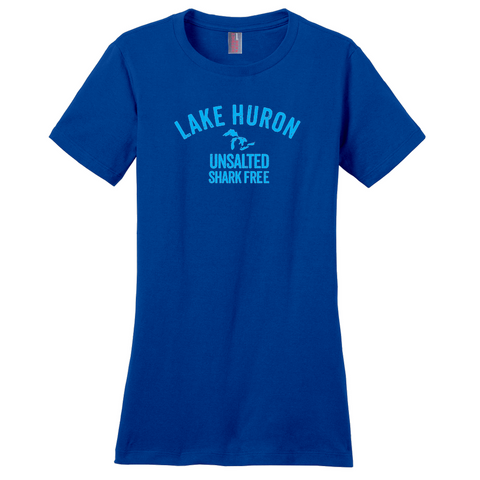 Lake Huron Unsalted Shark Free Women's T-Shirts