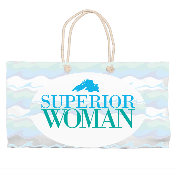 Great Lakes Tote Bag - Lake Superior Tote Bag - Superior Woman Tote Bag - Beach Tote Bag