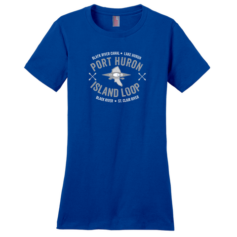 Port Huron Island Loop Women's T-Shirts -- Gray