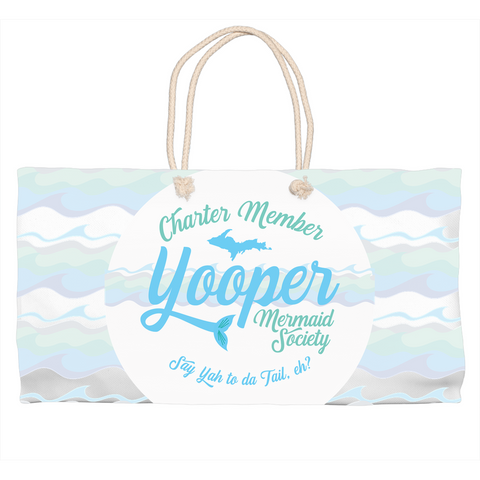 Yooper Tote Bag - Yooper Mermaid Tote Bag - Charter Member Yooper Mermaid Society