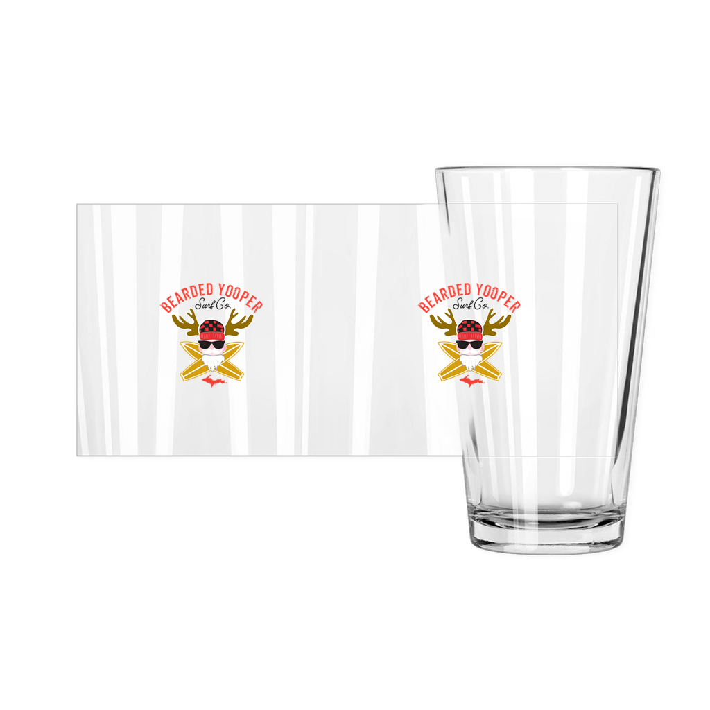 Bearded Yooper Pint Glasses