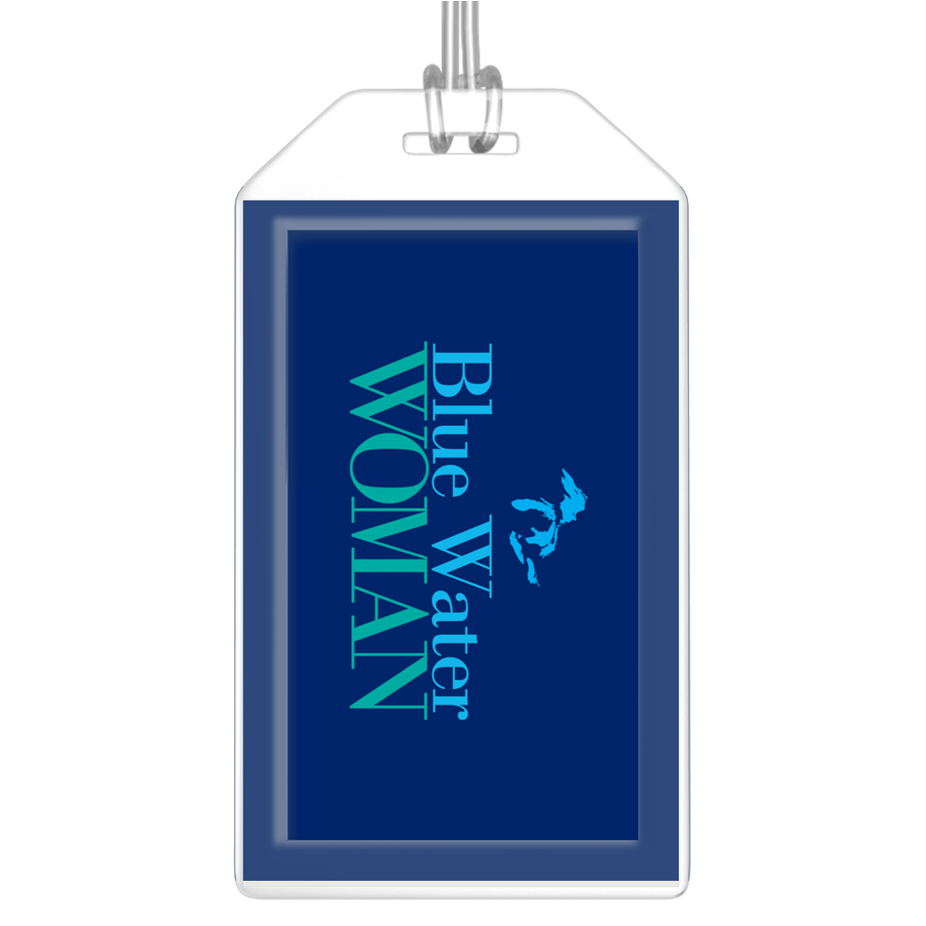 Blue Water Woman Navy Luggage Tags