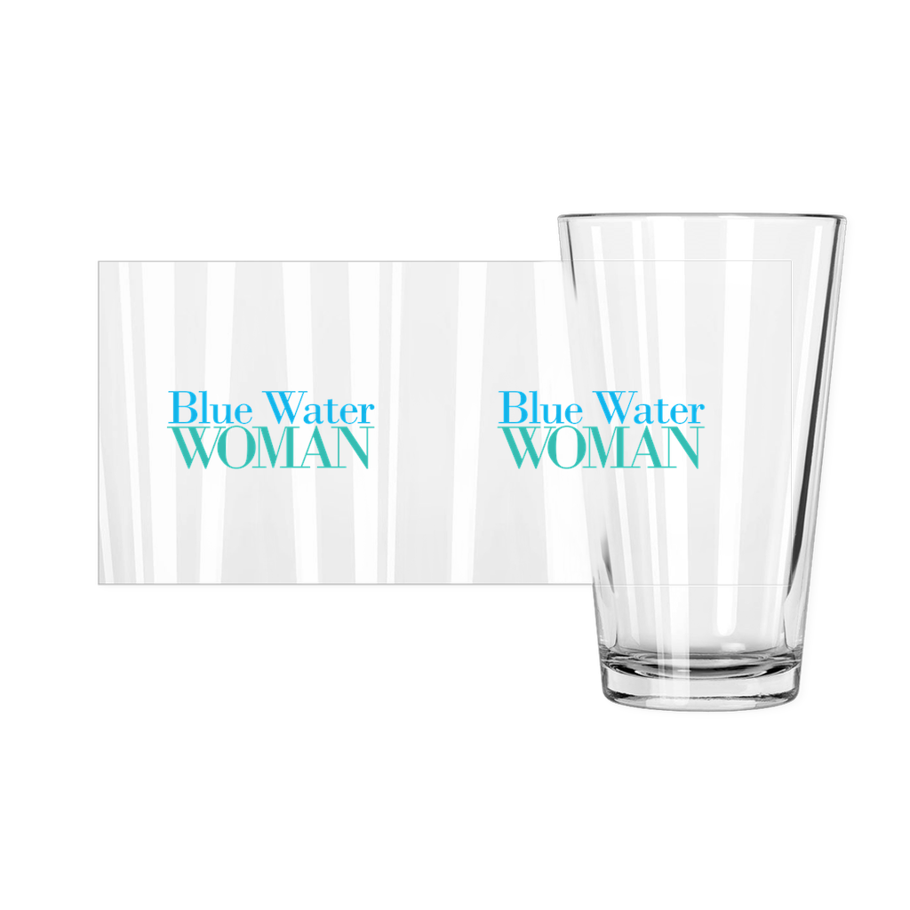 Blue Water Woman Pint Glass