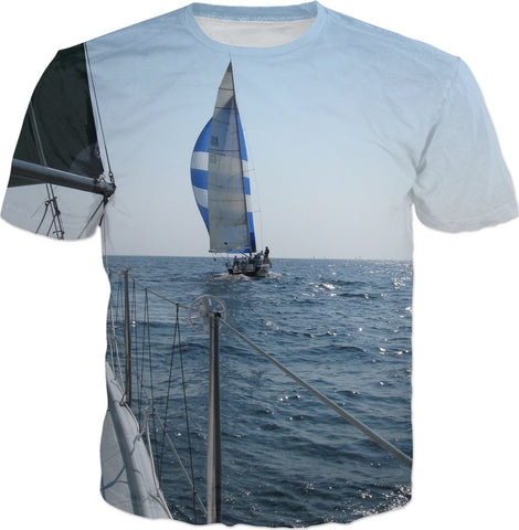 Sailing T Shirt - Sailboat Shirt - Great Lakes Sailing Shirt