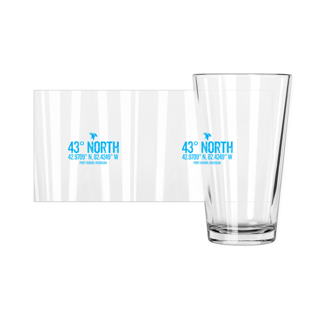 43 Degrees North Pint Glasses
