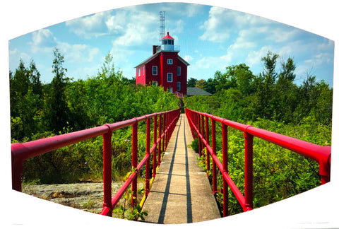 Marquette Lighthouse Face Mask