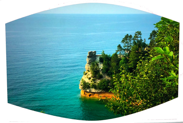 Miner's Castle at Pictured Rocks National Lakeshore Face Mask