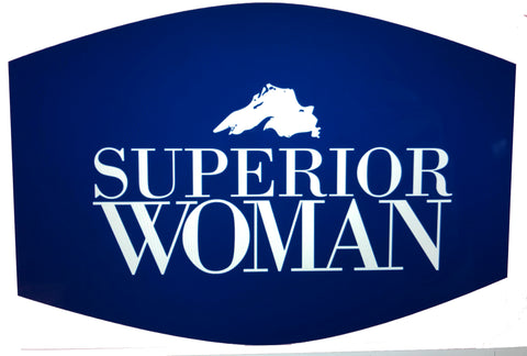 Superior Woman Face Mask -- Navy