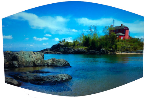 Marquette Lighthouse Face Mask -- McCarty's Cove