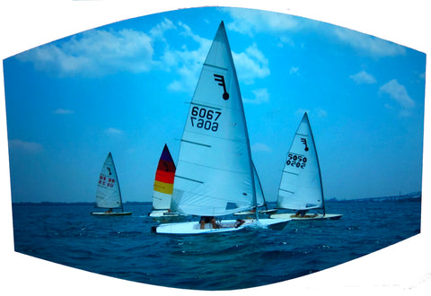 Sailboats Racing Face Mask