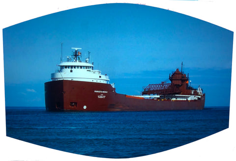 Great Lakes Iron Ore Freighter on Lake Huron