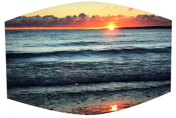 Sunrise on Lake Huron Face Mask