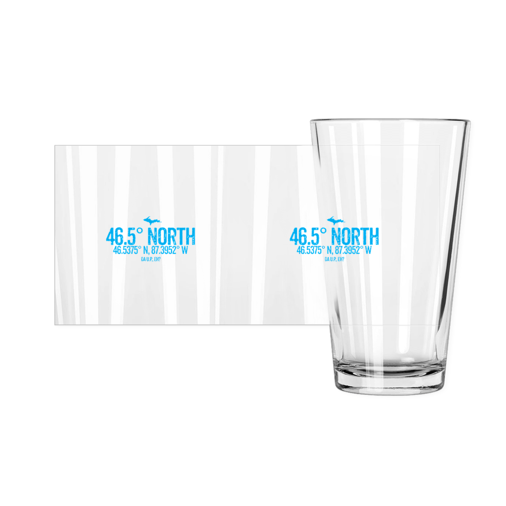 46.5 Degree North Upper Peninsula Pint Glasses