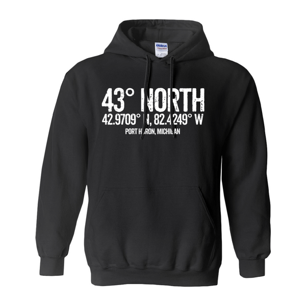 43 Degrees North Hoodies (No-Zip/Pullover)