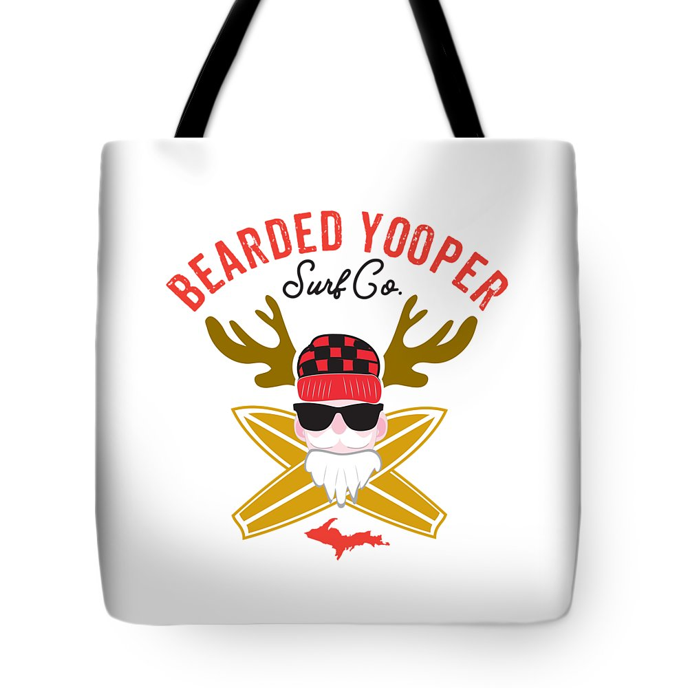 Yooper Tote Bag - Upper Peninsula Tote Bag - Bearded Yooper Surf Co. - Tote Bag