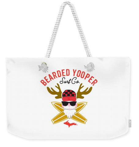 Yooper Tote Bag - Upper Peninsula Tote Bag - Bearded Yooper Surf Co. - Weekender Tote Bag