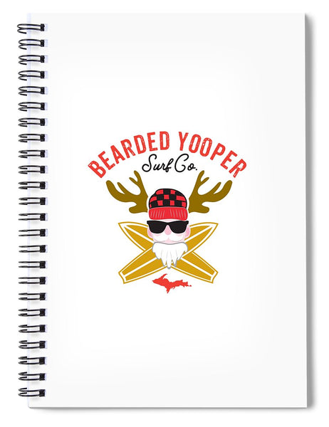 Yooper Notebook - Upper Peninsula Notebook - Bearded Yooper Surf Co. - Spiral Notebook