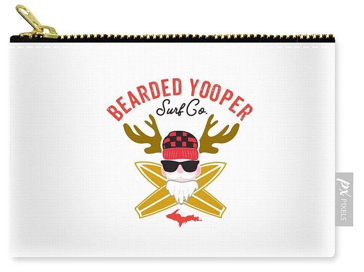 Yooper Pouch -- Upper Peninsula Pouch - Bearded Yooper Surf Co. - Carry-All Pouch Bag
