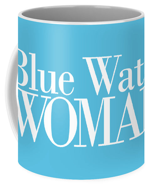 Blue Water Woman White Logo - Mug