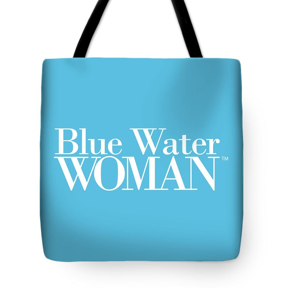 Blue Water Woman White Logo - Tote Bag
