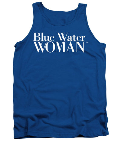 Blue Water Woman White Logo - Tank Top